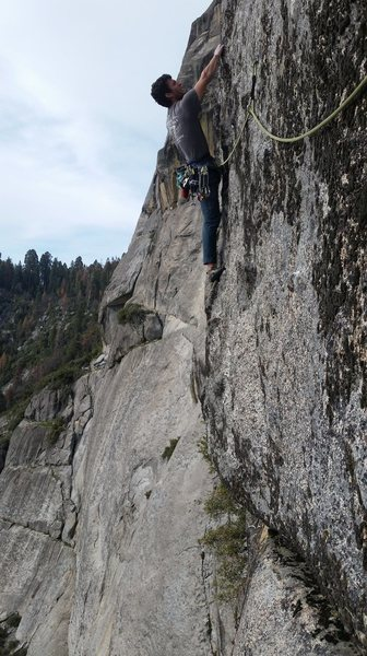 Rock Climbing Photo: Vato Knobbo homez! The 7th pitch as seen from the ...