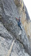 Rock Climbing Photo: Beginning of the 2nd pitch