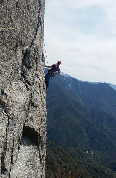Rock Climbing Photo: Alternative traverse on pitch 5