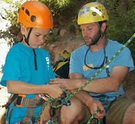 Rock Climbing Photo: Helping kids climb