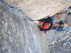Rock Climbing Photo: enjoying the slick jams