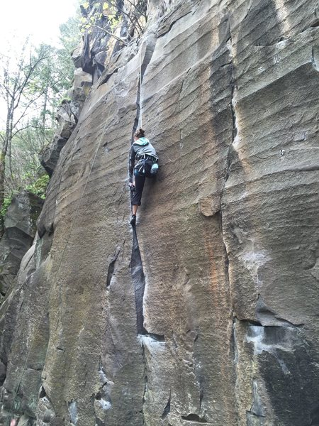 Classic Crack 5.9+<br> pretty polished rock these days