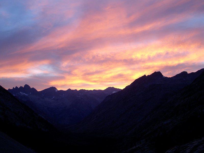 Rock Climbing Photo: Sunset on the JMT.