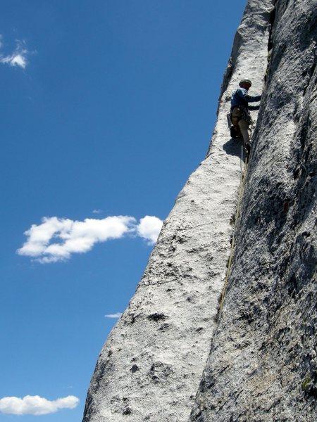 Rock Climbing Photo: Regular Route. Fairview Dome. Yosemite.