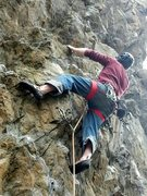 Rock Climbing Photo: Just clipped Bolt #3