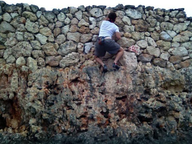 Rock Climbing Photo: My pit wall woody