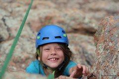 Rock Climbing Photo: Kid reaching
