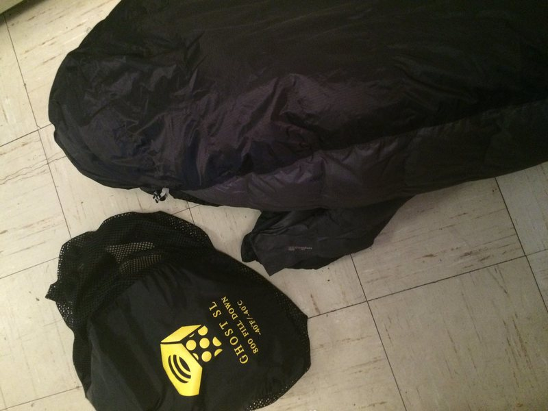Mountain Hardwear Ghost SL with bag
