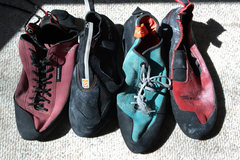 Rock Climbing Photo: Five ten shoes side by side
