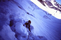 Rock Climbing Photo: [Photo#3] Through the 'shrund