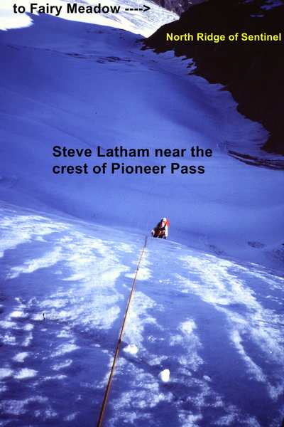 [Photo @POUND@4] Steve Latham nears the crest of the pass