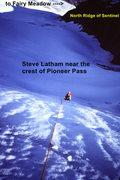 Rock Climbing Photo: [Photo #4] Steve Latham nears the crest of the pas...