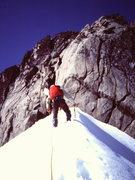 Rock Climbing Photo: [Photo#5] Approaching the rock of the East Ridge (...