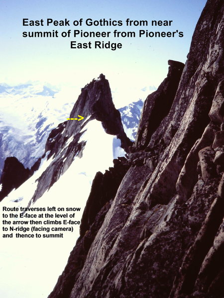 [Photo#7] East Peak of Gothics from the East Ridge of Pioneer (near summit)