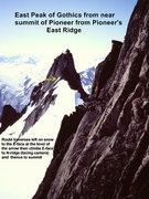 Rock Climbing Photo: [Photo#7] East Peak of Gothics from the East Ridge...