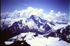 Rock Climbing Photo: [Photo#11] Mt Sir Sandford (1982) from summit (pro...
