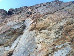 Rock Climbing Photo: Working my way up Misty