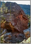 Rock Climbing Photo: Zugzwang problem beta.