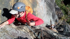 Rock Climbing Photo: Kevin and Denmark on the penultimate pitch of Digi...