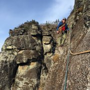 Rock Climbing Photo: Via-Ferrata type traverse... sketch