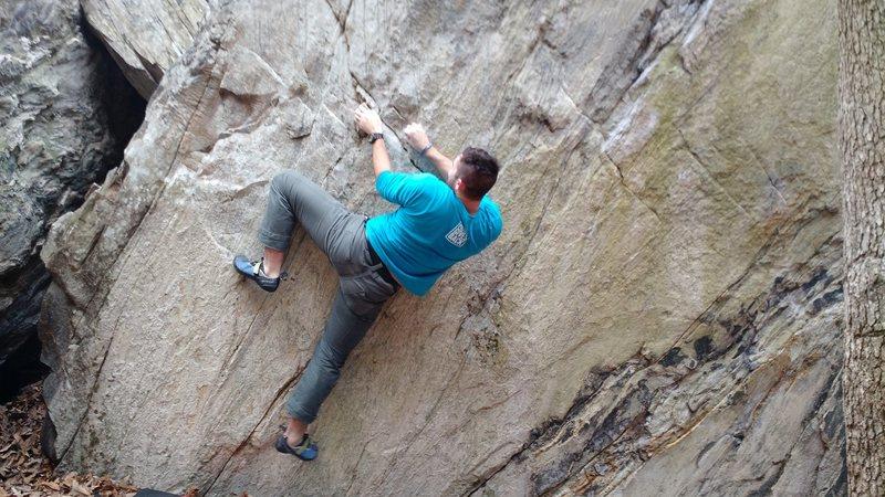 Rock Climbing Photo: Nic on the start of Hidden in Plain Sight