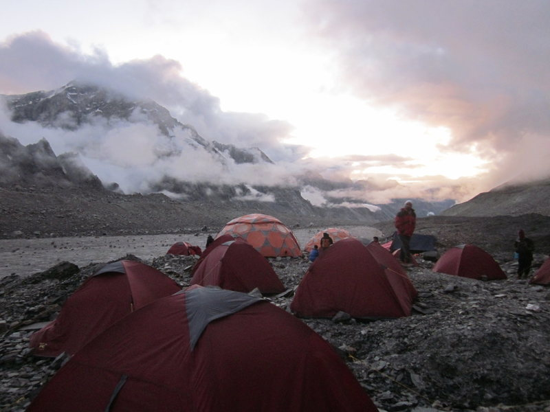 Rock Climbing Photo: Bara-Shigri Glacier Base Camp