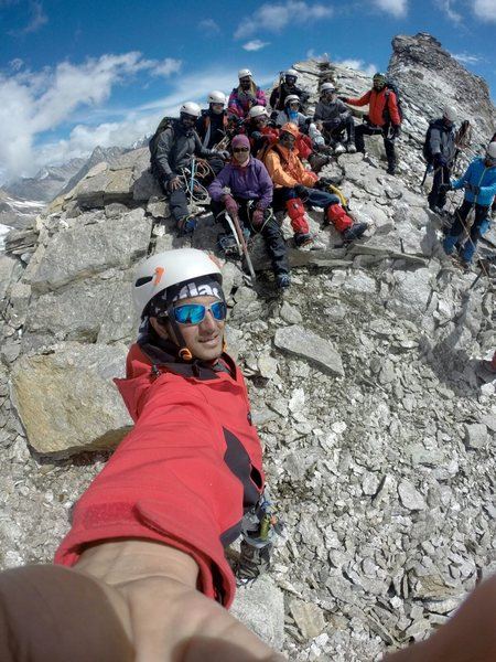 Rock Climbing Photo: After stooping the shoulder of the Unnamed Peak 55...