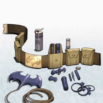 Batman's utility belt with a batarang.