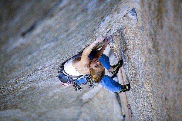 Rock Climbing Photo: Beth Rodden on Grand Illusion (photog: Corey Rich)