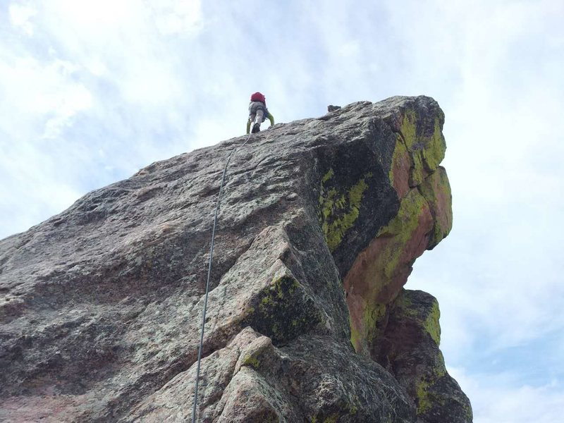 Rock Climbing Photo: The false summit.
