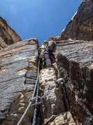 Rock Climbing Photo: First pitch isn't 5.3 for anyone short. There's ov...