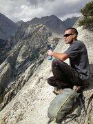 Rock Climbing Photo: Myles at The Fresh Air Traverse, dreaming of sling...