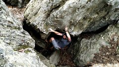 Rock Climbing Photo: The move on The Pit