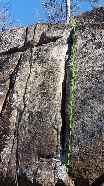 Rock Climbing Photo: Use a mixture of jamming and laybacking to get up ...