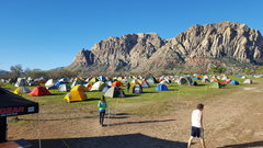 Rock Climbing Photo: Tent City, day one of RRR.