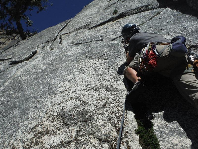 Rock Climbing Photo: Starting up Baby Teeth