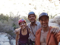 Rock Climbing Photo: Pre climb smiles, all roped up and ready for an ad...