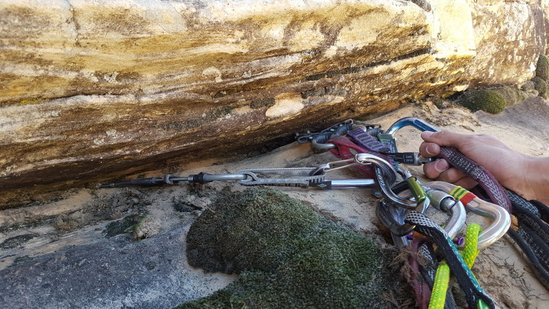 Small cam nest makes for a great anchor at the top of pitch 4.
