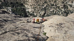 Rock Climbing Photo: Danny and KiKi enjoying some sun as we near the to...