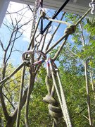 Rock Climbing Photo: Step 4: The munter-mule is untied, and the prussik...