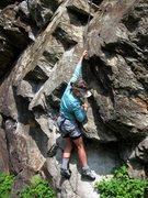 Rock Climbing Photo: Carolina starting up Daddy
