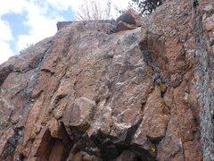 Rock Climbing Photo: Bolts at the top.