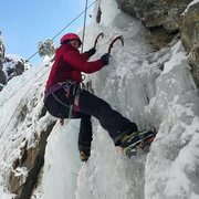 Here I am learning to ice climb in Ouray, Colorado this past January