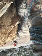 Rock Climbing Photo: Looking down on Pitch 2, glad I decided to take th...