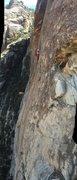 Rock Climbing Photo: Pitch 3, the traverse. Fun big holds.