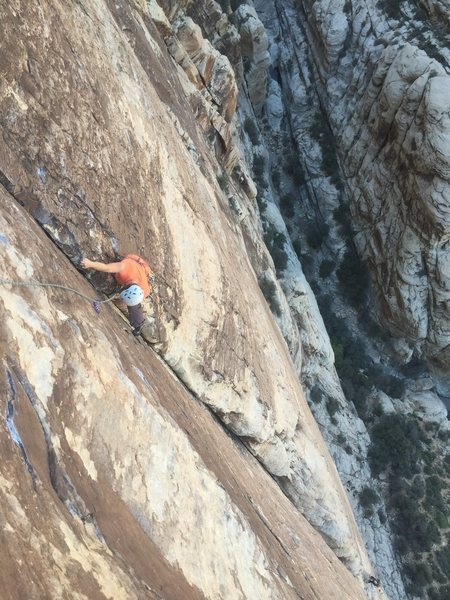 Pitch 4, before the face moves after 50m of crack.