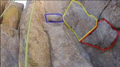 Rock Climbing Photo: The three or four mid-route rocks