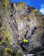 Rock Climbing Photo: Bonus P2 Dihedral. Highly recommended and great ge...