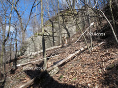 Rock Climbing Photo: Old and new access