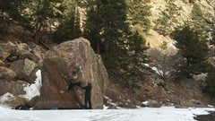 Rock Climbing Photo: Hitting the crux move on Resonated.